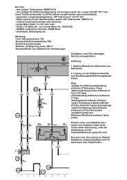 Die Teile: - eine Lampe, Teilenummer 1M0947101A - eine Auflage für ...