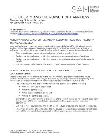 Life, Liberty & the Pursuit of Happiness Activities for the Classroom