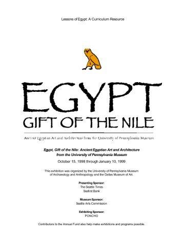 new Egypt Teacher Packet - Seattle Art Museum