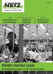 TExTILInDuSTRIE - NETZ eV Partnerschaft für Entwicklung und ...