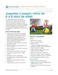 Juguetes y juegos: niños de 6 a 8 años de edad - Seattle Children's