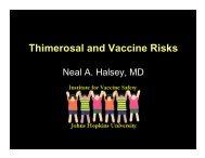 Thimerosal and Vaccine Risks - Seattle Children's