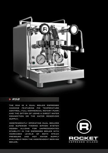 R58 technical specifications PDF - Rocket Espresso Milano