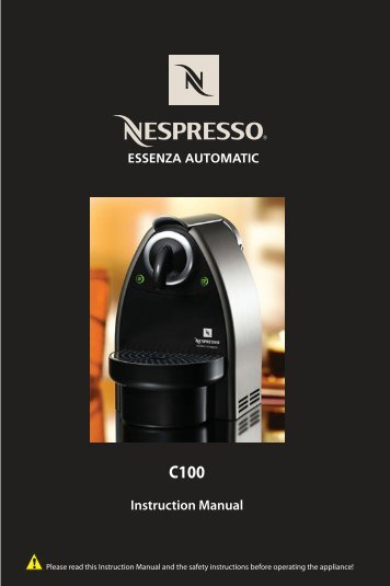 Instruction Manual - Nespresso