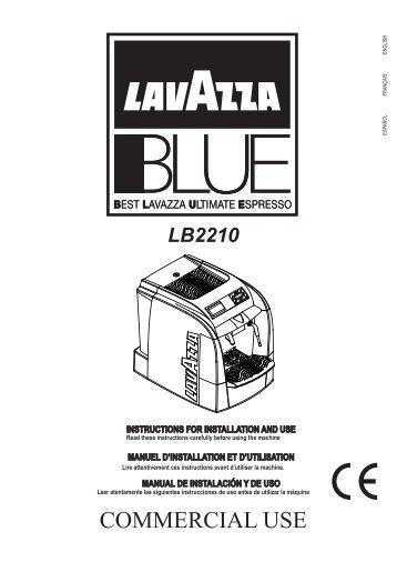 Saeco Lavazza 2210 Espresso Machine User Manual