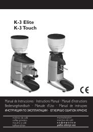 K-3 Elite K-3 Touch - Compak Coffee Grinders