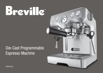 breville cafe roma instructions
