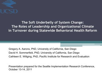 The Soft Underbelly of System Change: The Roles of Leadership ...
