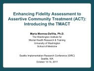 Enhancing Fidelity Assessment to Assertive Community Treatment ...