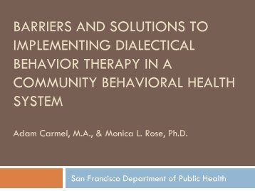 in San Francisco? - SIRC : Seattle Implementation Research ...