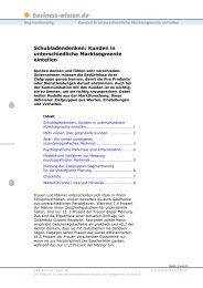 Kunden in unterschiedliche Marktsegmente eint - Business-Wissen.de