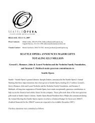 seattle opera announces major gifts totaling $21.5 million