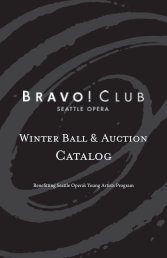 Winter Ball & Auction Catalog - Seattle Opera