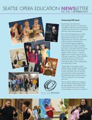 View Education Newsletter - Seattle Opera