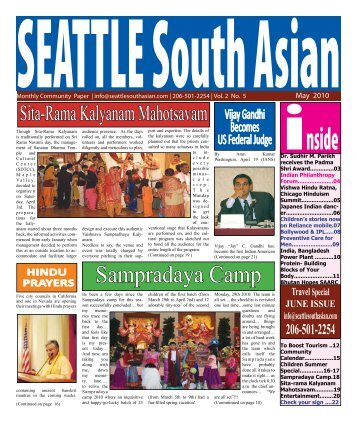 May 2010 - Seattle South Asian