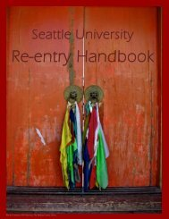 Re-Entry Packet for Study Abroad Alumni - Seattle University