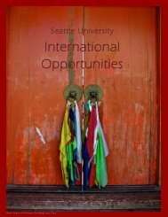 International Opportunities for Going Abroad Again - Seattle University