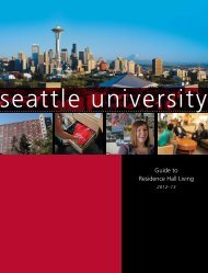Guide to Residence Hall Living - Seattle University