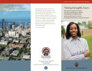 Valuing Intangible Assets - Seattle University