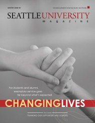 For students and alumni, exemplary service goes ... - Seattle University
