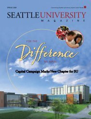 Capital Campaign Marks New Chapter for SU - Seattle University