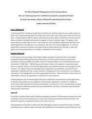 The Role of Nonprofit Management in Crisis ... - Seattle University