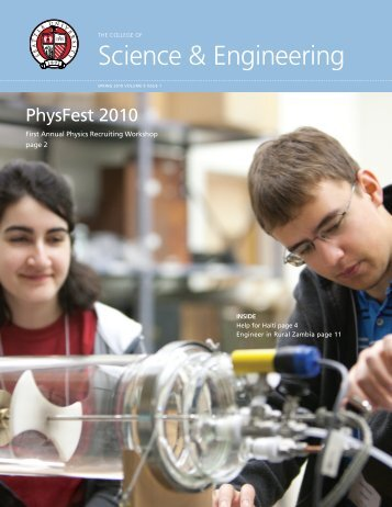 2010 Spring - Science & Engineering Newsletter - Seattle University
