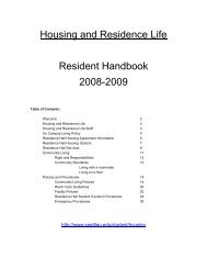 RESIDENCE LIFE & HOUSING - Seattle University