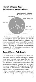 Water Efficiency for your Home - RainHarvest Systems - Page 6