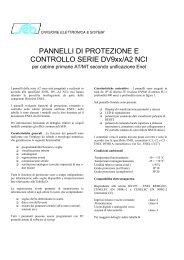 PANNELLI DI PROTEZIONE E CONTROLLO ... - seb barlassina