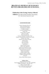 Revista - Sociedade de Ecologia do Brasil