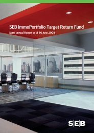 semi-annual report 30 Jun 2008 - SEB Asset Management