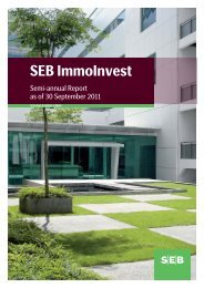 Semi-annual Report - SEB Asset Management