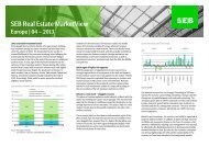 SEB Real Estate MarketView Europe | 04 - SEB Asset Management