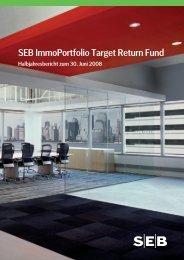 Halbjahresbericht zum 30.06.2008 - SEB Asset Management