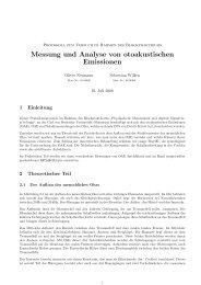 Messung und Analyse von otoakustischen Emissionen - sebastian ...