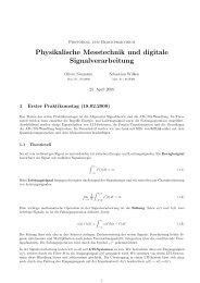 Physikalische Messtechnik und digitale Signalverarbeitung