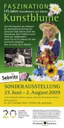 27. Juni – 2. August 2009 SONDERAUSSTELLUNG - Sebnitz