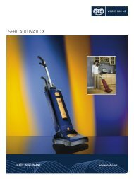 SEBO AUTOMATIC X - Vacuum Cleaners - SEBO Vacuums