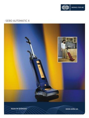SEBO AUTOMATIC X - Vacuum Cleaners - SEBO Vacuums