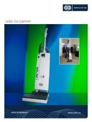 SEBO 370 COMFORT - SEBO Vacuums
