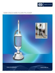 Appliance Brochure FINAL.qxd - SEBO Vacuums