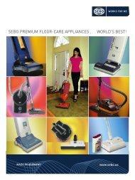 sebo premium floor-care appliances . . . world's best! - SEBO Vacuums