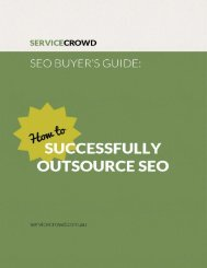 SEO Buyer's Guide Ebook by ServiceCrowd