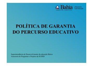 Política de Tratamento do percurso Educativo 2011 - Secretaria da ...