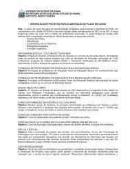 projetos para elaboração do plano de curso - Secretaria da Educação