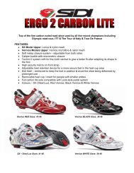 Top of the line carbon soled road shoe used by all the ... - Cassons