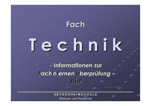 Fip themen technik realschule