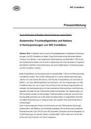 Pressemitteilung - SIG Combibloc