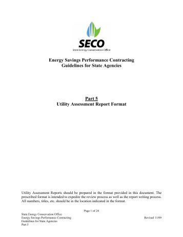 Periodic Utility Savings Report Certification - State Energy